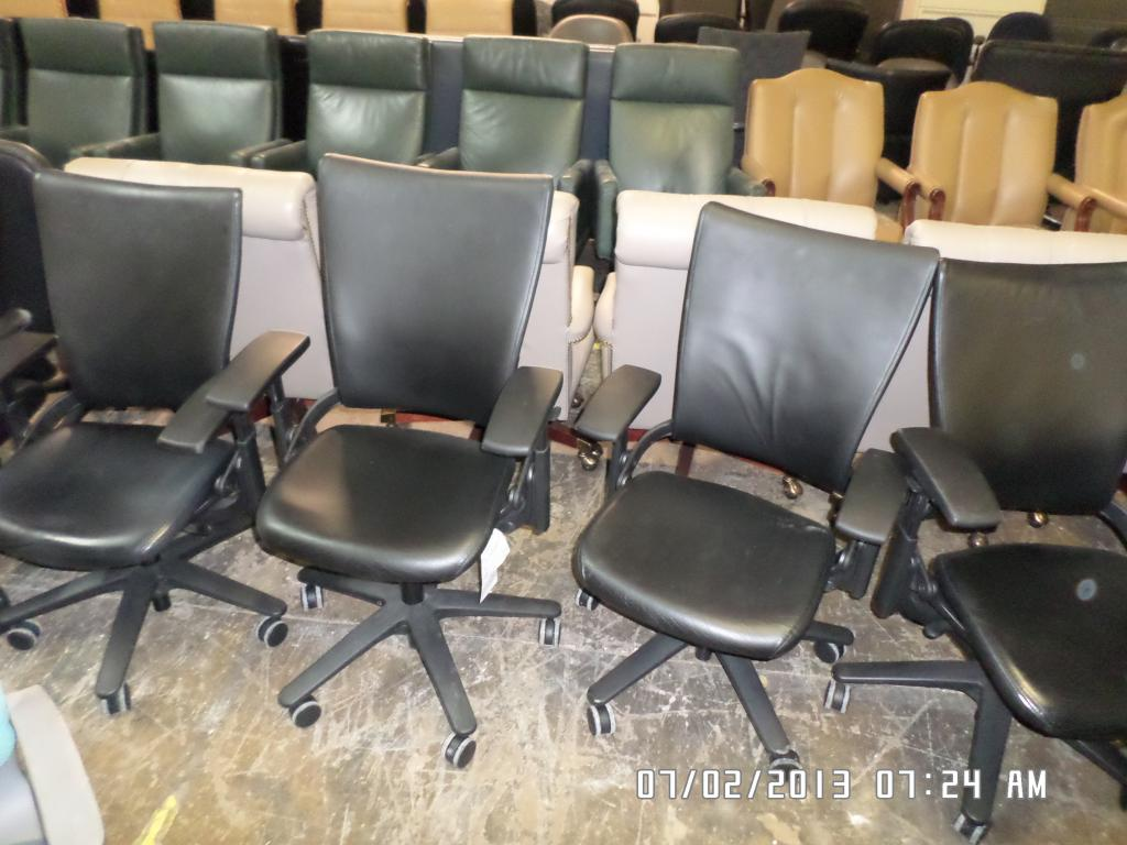 Used Office Chairs Used Allsteel Leather Task Chair At Furniture Finders