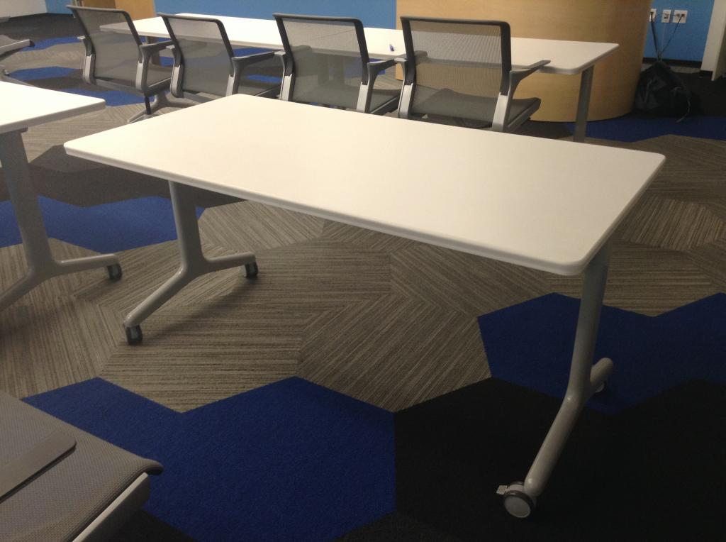 Used office conference tables allsteel get set nesting