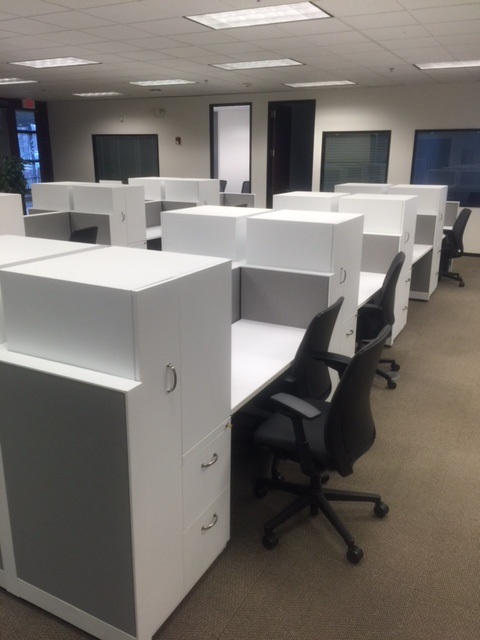 Used Office Cubicles Modern Call Center Stations