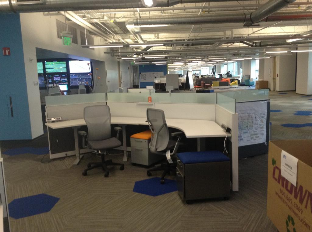 Used Office Cubicles Allsteel DNA 120 Degree SOLD At Furniture Finders