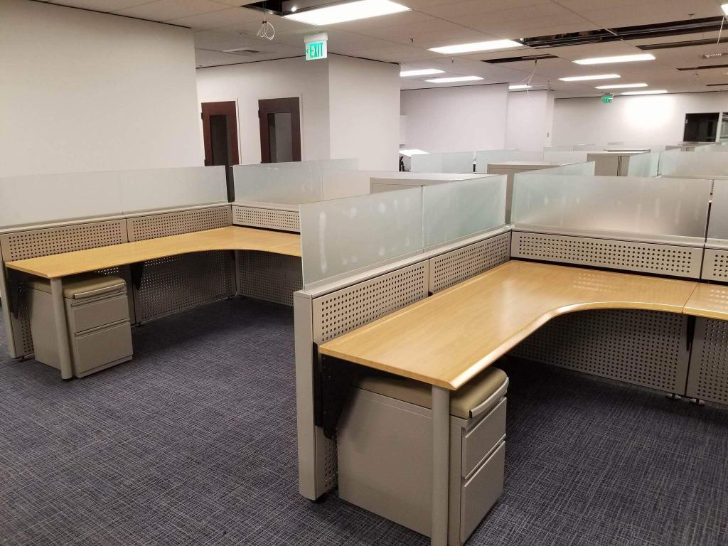 Used Office Cubicles : Installed Used Office Cubes Seattle ...