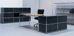 Used USM Haller desks and cabinets