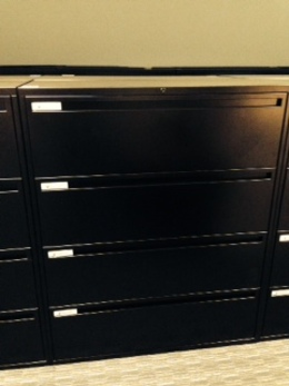 "4 DRAWER 42"" wide Lateral Files  LIKE NEW"