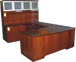 Clearance Factory Closeout - Cherry Wood Desk