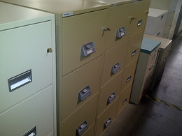 Vertical Fireproof Filing Cabinets