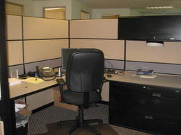 Teknion Cubicles 8 x 8 with some glass