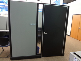 """Used Office Cubicles : Herman MIller AO2 cubicles 85"""" high w/ doors at Furniture Finders"""