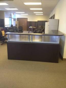 Reception Desk With Glazed Panels