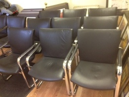 HARTER SLED BASE CHAIRS LEATHER