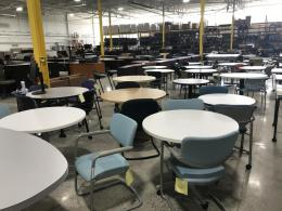 Variety of used round tables