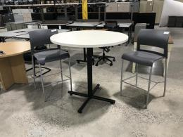 Variety of round and teardrop shaped tables