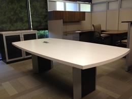 Manhattan Conference Table & Storage Credenza