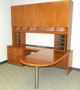 Gorgeous Geiger cherry wood offices!!