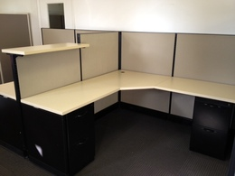 "Herman Miller AO2 47"" H Workstations"