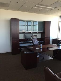 Nucraft Contemporary Desk with  Credenza