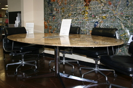 Vintage Knoll Marble Oval Conference Table