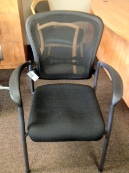 Spice Black Mesh Back Stacking Chairs
