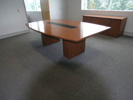 8' Cherry Veneer Conference Table