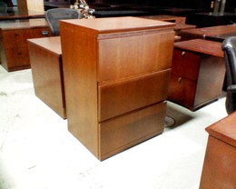 Wood 3 Drawer used Lateral File in tri-state