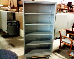 Steelcase Used Metal Bookcase Platinum Silver