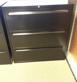 Pre-Owned 3 drawer lateral file cabinets