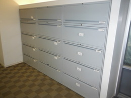 Five Drawer 36'' lateral file