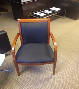 Pre-Owned Cherry frame wood guest chairs