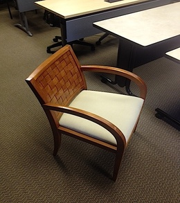 Cherry wood frame side chairs
