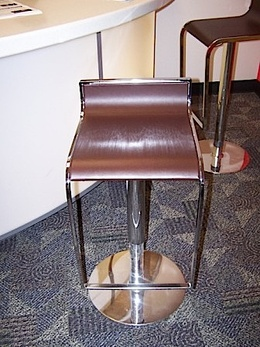 Used Brown Leather Barstools