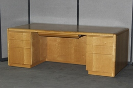 Birdseye Executive Desk  & Credenza