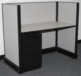 Herman Miller AO2 Black Telemarketing Station