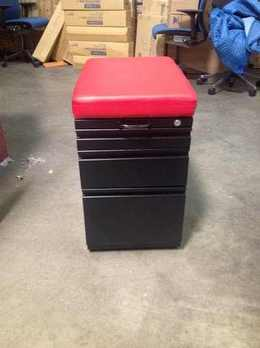 Inscape Mobile Pedestal w/Red Cushion