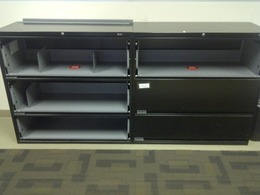 "Global 42"" 3-Drawer Laterals w / Flip Front"