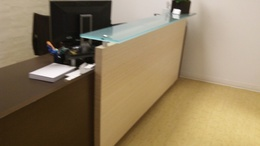 Wood Expresso Finish Reception Desk