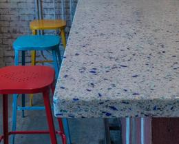 Table made from **Recycled Glass**