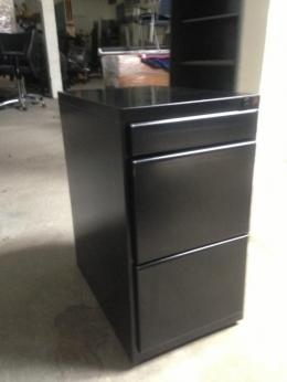 Black Mobile Pedestals--file cabinets