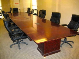 20 ft wood veneer conference tables