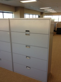 "Used Steelcase 42""  5 drawer lateral files"