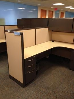 Mixed Height Used Office Cubicles