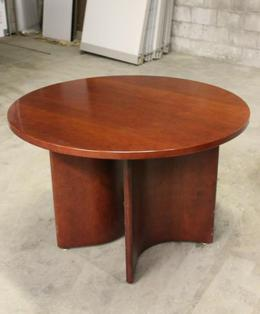 Round Cherry Conference Table