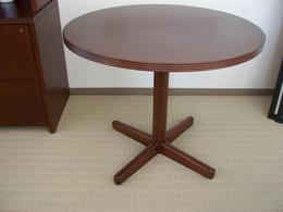 Round Cherry Meeting Table