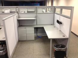 Steelcase Refurbished Cubicles W/ Glass