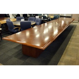 25' Cherry Veneer Rectangular Conference