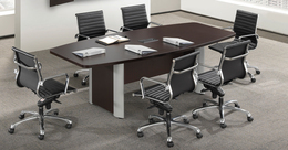 8 foot Boat Shape Conference Table