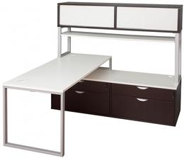 Modern L desks in White
