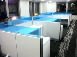 Low Height Cubicles with So Cool GLASS!