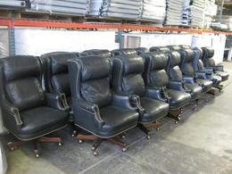 Black Leather Conference Chairs