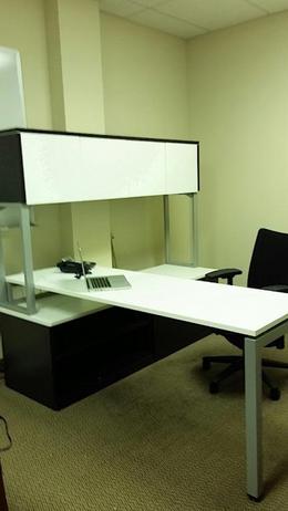Espresso L Shape Shape Desk