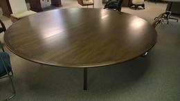 Herman Miller Eames 8' round walnut table