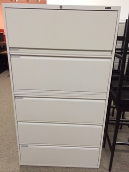 Global 5 Drawer Lateral with Storage Bin